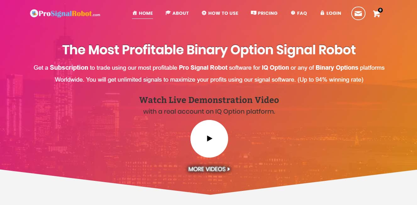 PRO SIGNAL ROBOT | The Most Profitable Binary Option Robot