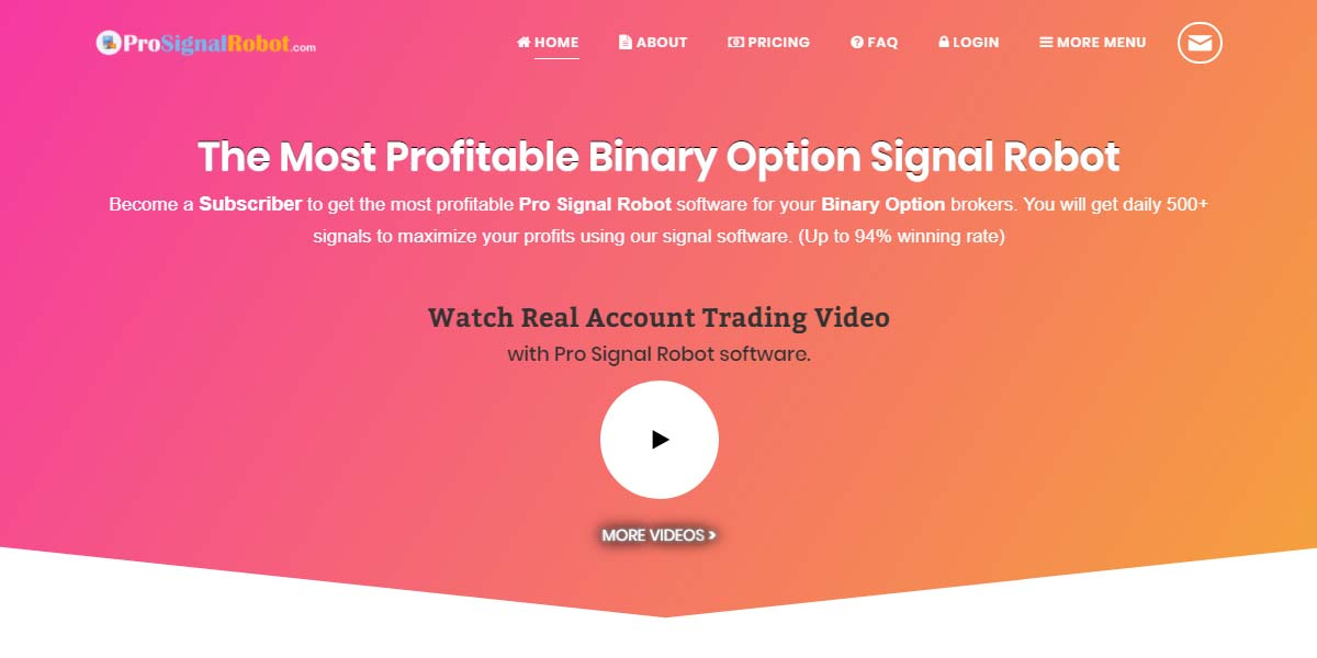 Binary options pro signals recommended brokers license betting iwork 08